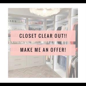 Closet Clean Out! Make an offer!!